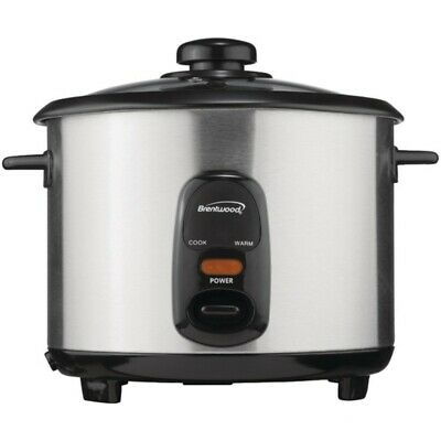 New Brentwood Appliances TS-10 5-Cup Stainless Steel Rice Cooker
