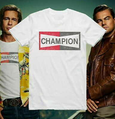 Champion T Shirt Once Upon A Time In Hollywood Brad Pitt Christmas gift Mens Top