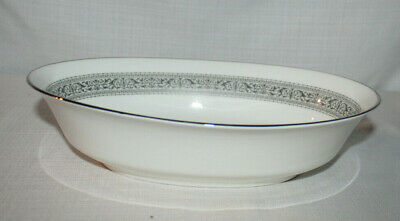Lenox Oxford Bone China Filigree Oval Vegetable Serving Bowl