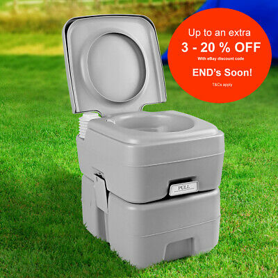 Weisshorn 20L Outdoor Portable Toilet Camping Potty Caravan Travel Boating w Bag