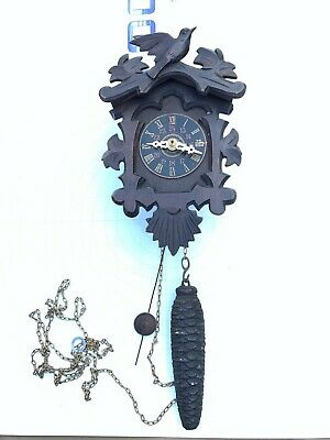 Antique Novelty Clock from Black Forest cir. 1930's