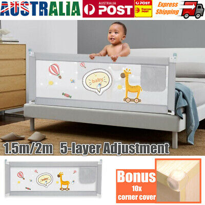 1.5M/2M Kids Child Bedguard Toddler Safety Bed Rail Guard Folding Protection
