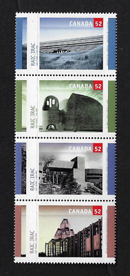 Canada Stamps — Block of 4 — Royal Architectural Institute — #2215-2218 — MNH