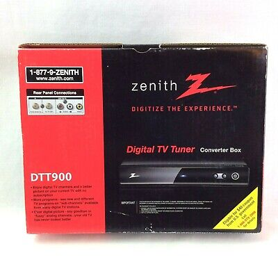Zenith Digital TV Tuner Converter Box Model DTT900