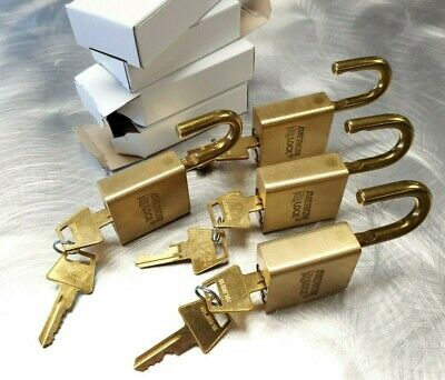 You Get 4 New American Brass Locks For One Low Price - Keyed Different Lot