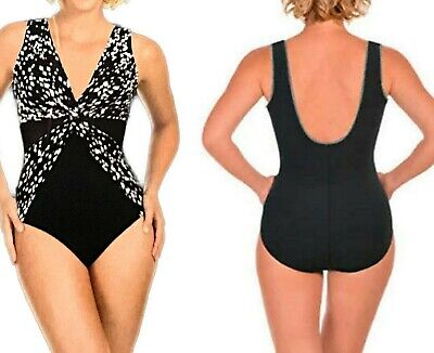New MIRACLESUIT Slimming Swimsuit Bathers BLACK DIAMOND Size Aus 12 14 16 or 18