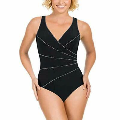 New MIRACLESUIT Slimming Swimsuit Bathers BLACK HORIZON Size Aus 10 12 14 or 16