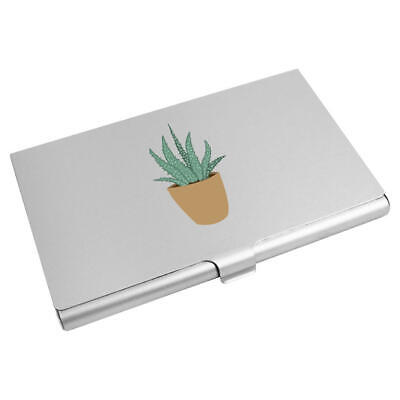 'Aloe Vera' Business Card Holder / Credit Card Wallet (CH00016726)