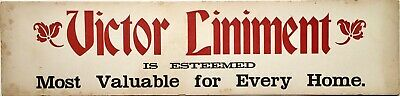 Antique Victor Liniment Medicine Medical Pharmacy Apothecary Advertising Sign