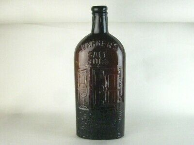 40784 Old Vintage Antique Glass Bottle Warner's Safe Cure Medicine 4 cities