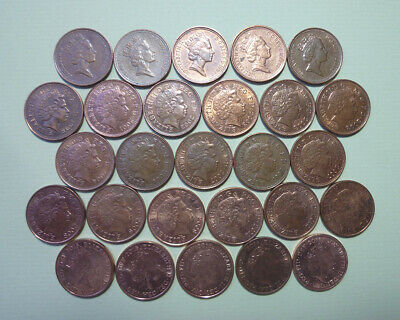 Coins, Decimal ONE Penny, 1994-2016, Circulated, Collectible years, Job Lot