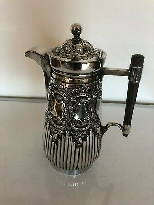 Beautiful Silver Plated Chased Coffee/Water Pot On A Circular Foot (Spcp 1Pp)