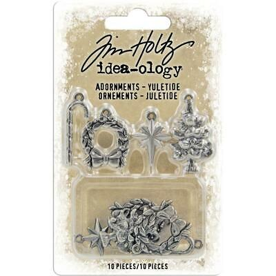 Tim Holtz Idea-Ology - Metal Adornments - Yuletide - 10 Pieces - NEW!