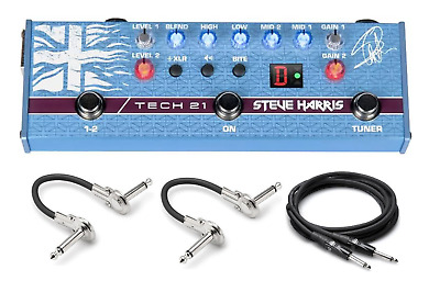 New Tech 21 Steve Harris Signature Sansamp Bass Guitar Preamp Pedal