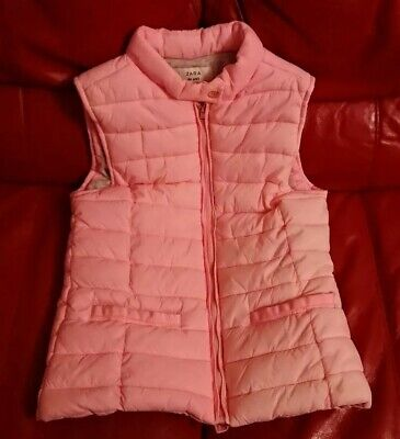 Zara Girls Pink Bodywarmer Age 13/14