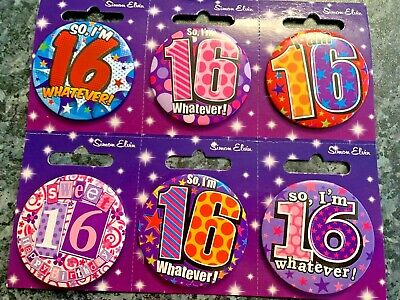 Age 16 16th Happy Birthday Badge Boy Girl Small Teen Party Gift Present
