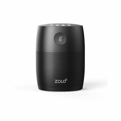 Zolo Mojo Black compact voice activated speaker powerful sound Google Assistant