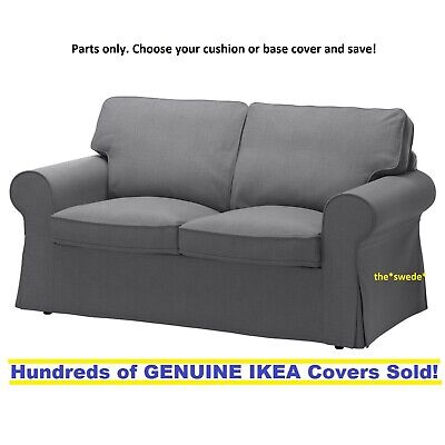 Parts of Ikea EKTORP Loveseat (2 Seat Sofa) Slipcover Cover NORDVALLA DARK GRAY