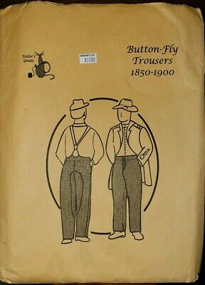 Tailors Guide Button Fly Trousers Sewing Pattern 1850-1900