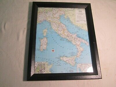Germany - Europe - Map Atlas National Color Print Framed - Geography