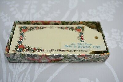 Rare Vintage Stationery 25 x Gift Tags Box Set Pineider Firenze Florence Italy