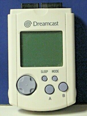 OEM Sega Dreamcast VMU Visual Memory Unit Storage Card Tested Gray HKT-7000
