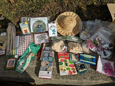 Crafters Delight, Wood, stickers, Martha Stewart Stamps, Jewelry, Straw Hats
