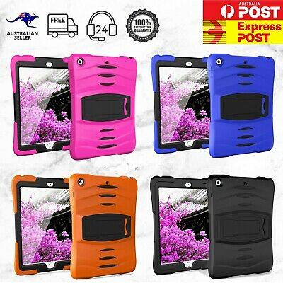 Heavy Duty Hybrid Rugged Shockproof Hard Cover with Screen Protector iPad Case