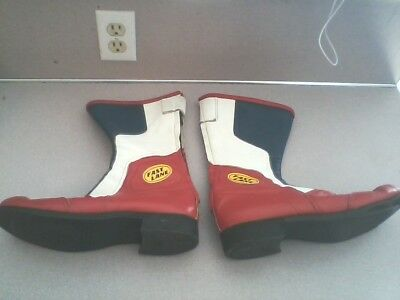 Vintage Rare Bates Competition/Race Motorcycle Boots Size 10
