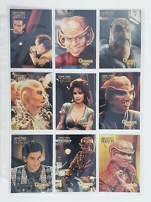Star Trek Deep Space Nine Profiles - Quarks Bar Cards - Skybox 9 Card Set DS9