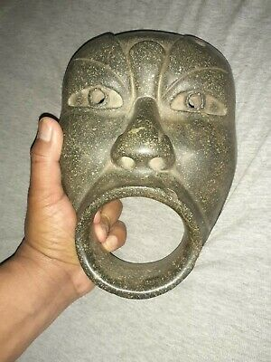 Olmec stone mask,the facial wide mouth,Precolumbian,azteca,olmec,moche,chavin