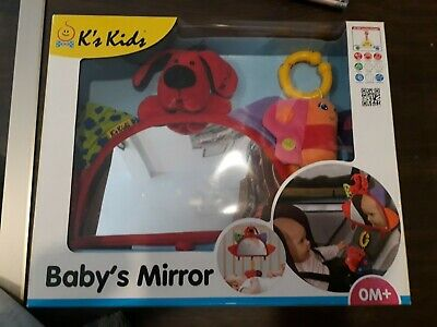 Baby Toy Hanging Mirror Car Cot Dog Butterfly Multicolour