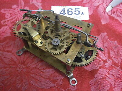 CLOCK MOVEMENT H.A.C GERMAN, USA 30 H shelf wall mantle bracket parts spare 465A