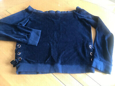 Girls RIVER ISLAND Off Shoulder Velour Top ~ 9-10 Years