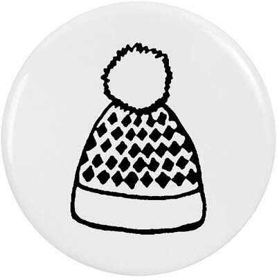 Bobble Hat Cute Fabric Lapel Pin Badge//Brooch Kitsch Wooly Gift BNWT//NEW