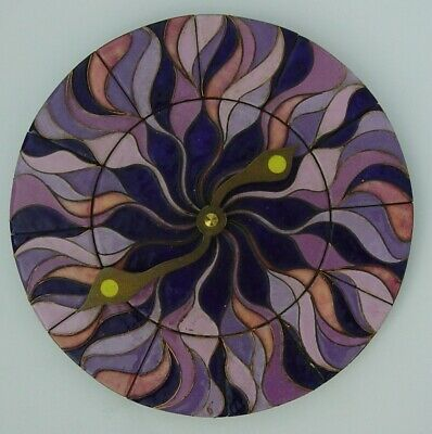 vtg. 60/70s enamelled Pop Art wall clock signed Barbara Lenz