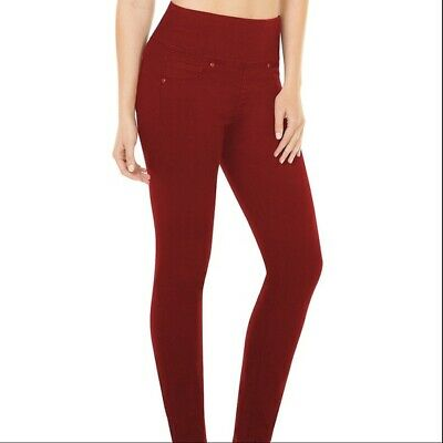 Spanx Ready To Wow Brick Red Denim Shaping Leggings. 2066. Size M. Rrp $98