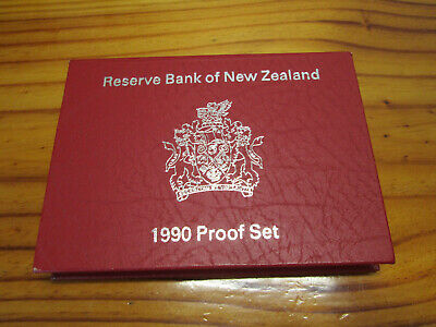 1990 New Zealand Proof Set Silver $1 and $2 Coins