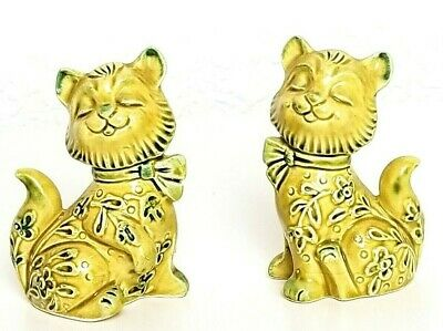 Cat Salt And Pepper Shakers Vintage Cheshire Cat