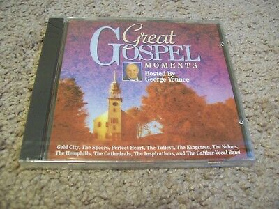 Great Gospel Moments CD  George Younce Gold City Kingsmen Cahedrals Gaither MORE