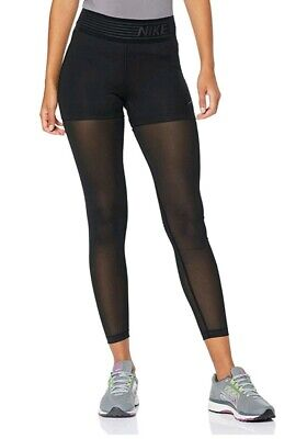 Nike Pro Deluxe Womens Black Training Tights Size LARGE