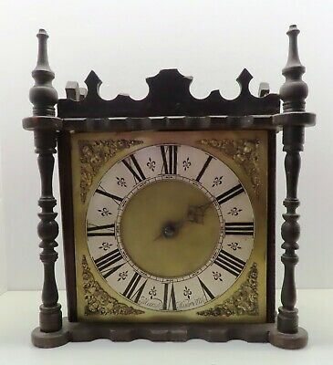 Early English 1700s Hook and Spike Clock of Lantern era, Marsh of Highworth