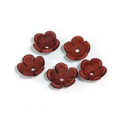 Hobby & Crafting Fun Real Leather Flowers - 18mm