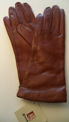 Ladies {Grandoe,100% Cashmere Lined} Leather Gloves*,Caramel,Small