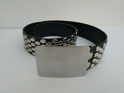 Vintage Leather Studded Belt Late 70's Punk Rock Double Sided Pleasure Chest USA