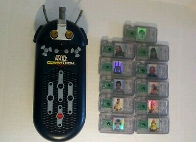 CommTech Electronic Reader+11 assorted chips Star Wars 1998 Hasbro Episode I