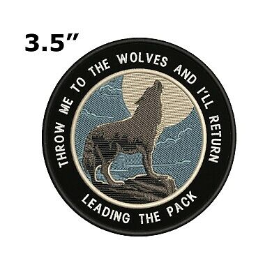 Wolf Moon Embroidered Patch Iron-On or Sew-On Travel Souvenir Explore Applique