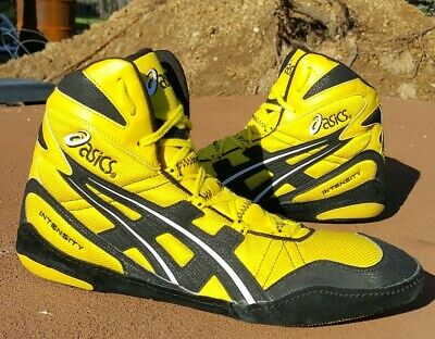 RARE BRAND NEW Asics Intensity Yellow Wrestling Shoes Size