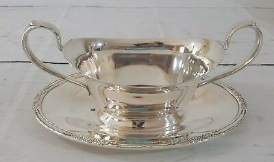 Vintage International Silver Co CAMILLE 6013 Silverplate Gravy Sauce Boat