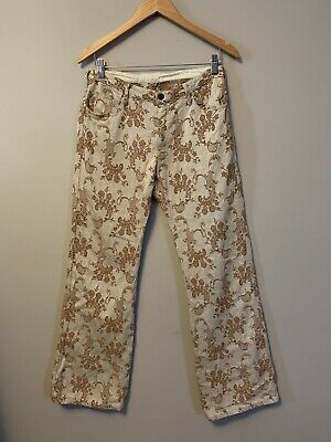Vintage Amco jeans size 12 boot cut cotton blend low rise embroidered boho 70s